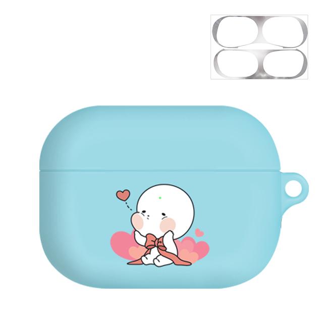 옴팡이 조이 에어팟프로 케이스 + 철가루 방지 스티커, 단일 상품, 리본츄