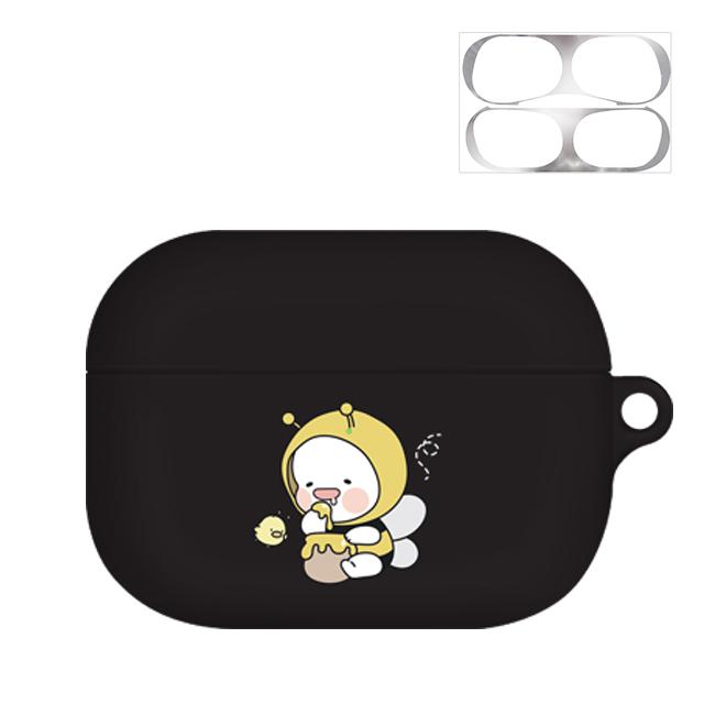 옴팡이 조이 에어팟프로 케이스 + 철가루 방지 스티커, 단일 상품, 허니비