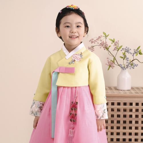 더예한복 여아용 319 봄봄단아 한복세트