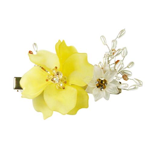 더예한복 여아용 한복 노란꽃구슬 머리핀 8-17