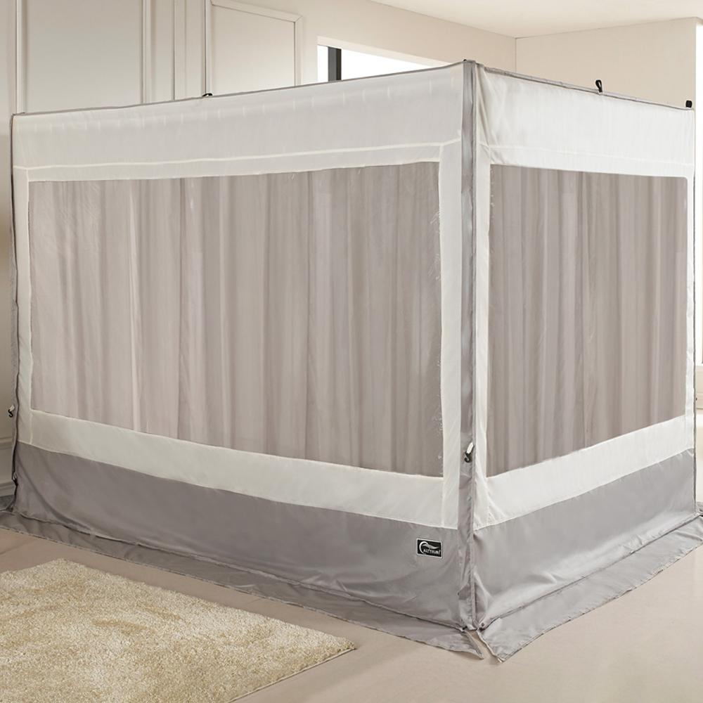 알뜨리 소프트 사각 커튼형 난방 텐트 + 커튼 + 투라인 프레임 세트, 베이직 그레이