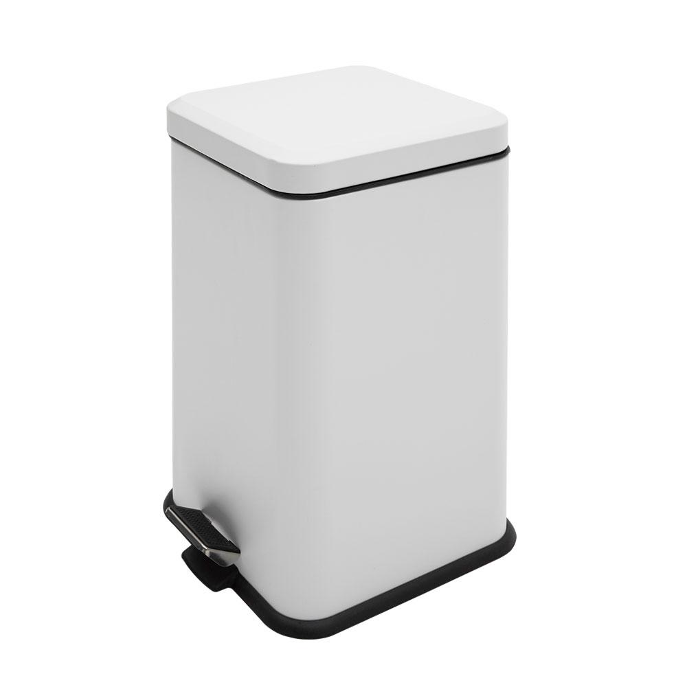 모노플랫 정사각형 무광 쓰레기통 20L, 화이트, 1개