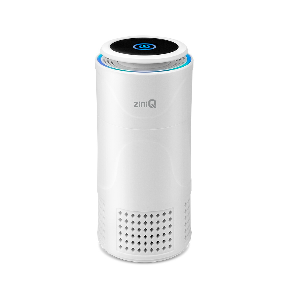 지니큐 USB 충전 LED 차량용 공기청정기, ZQ-AIR100(화이트)