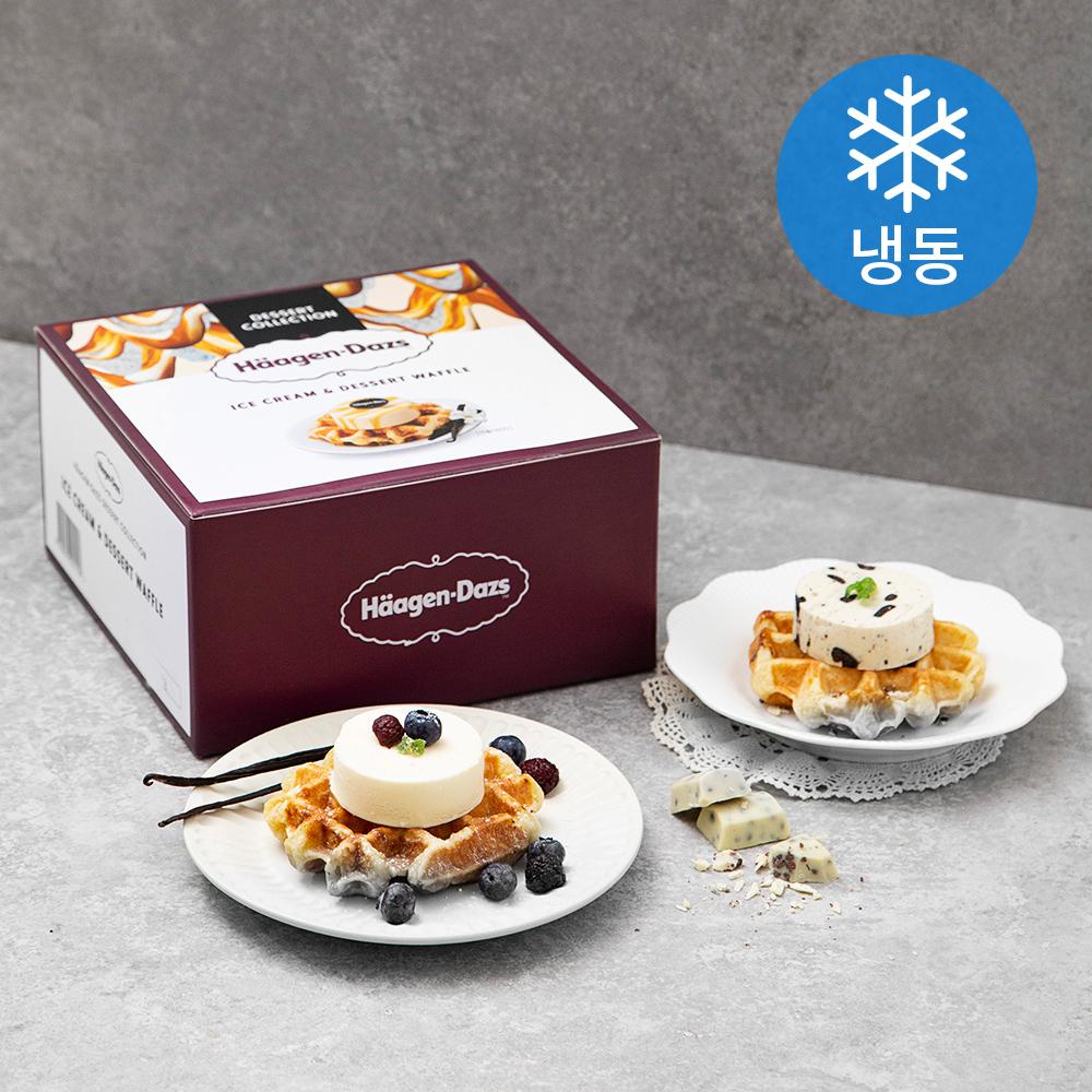 하겐다즈 아이스크림앤와플 (냉동), 488g, 1개