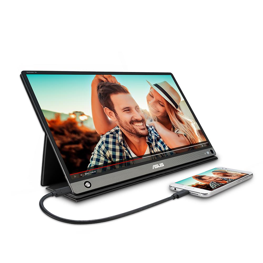 에이수스 39.6cm FHD ZenScreen GO USB & HDMI 휴대용 모니터, MB16AHP