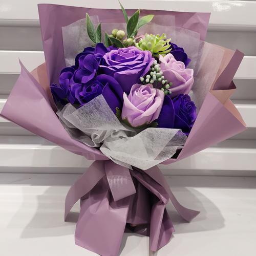 데코코마니 비누꽃 소중한사랑 꽃다발 핑크퍼플
