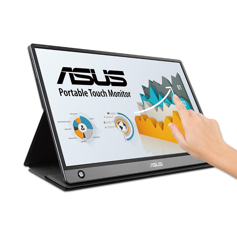 에이수스 39.6cm FHD ZenScreen Touch USB & HDMI 휴대용 터치모니터, MB16AMT