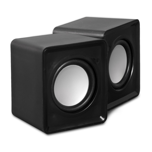 BLUEMORE 2채널 멀티미디어 스트레오 USB 미니스피커, BS-7000U, 블랙