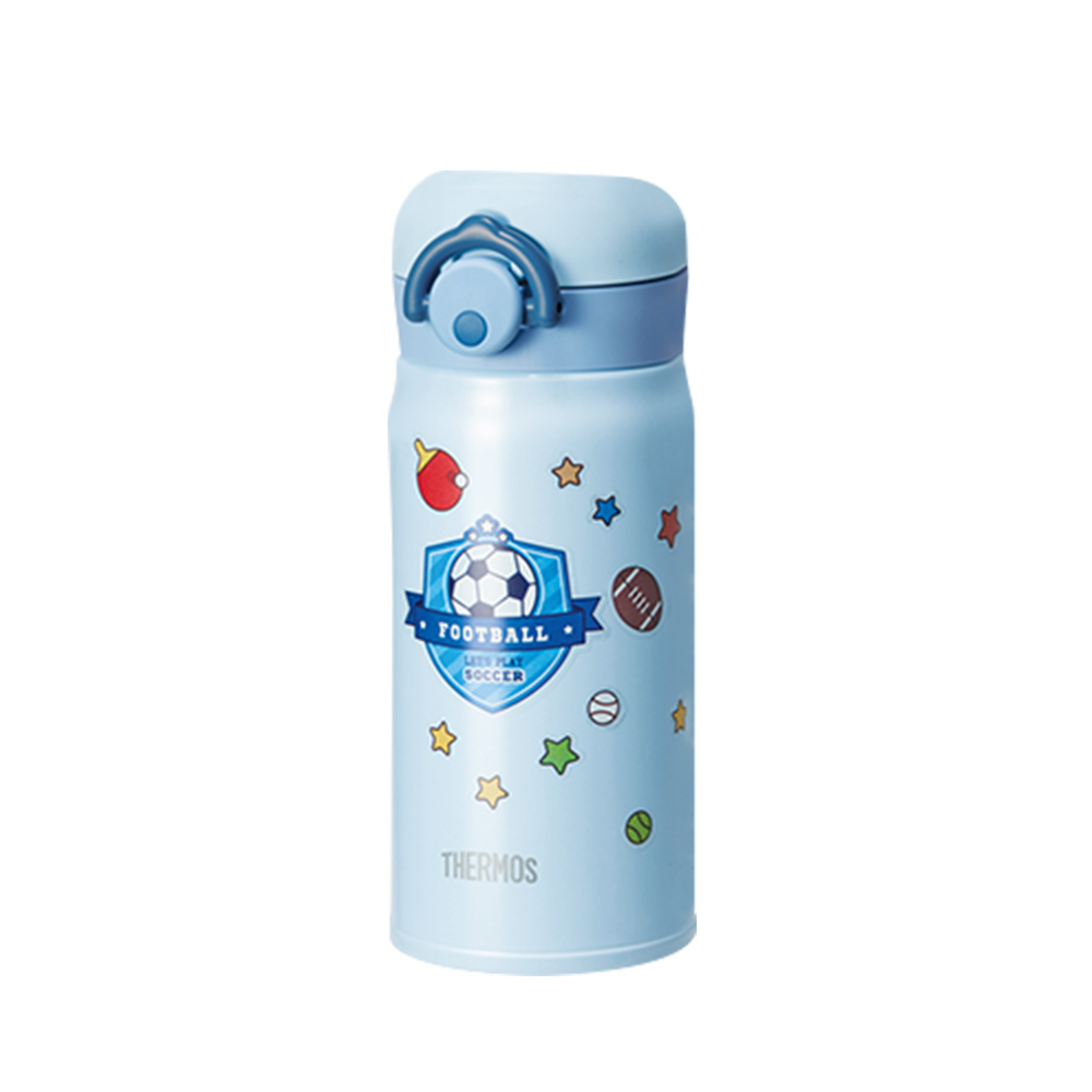 써모스 진공 단열 마이 디자인 보틀 휴대용 텀블러 JNR-350K + 네이밍 스티커 2p + 디자인 스티커 랜덤 발송, 라이트블루, 350ml