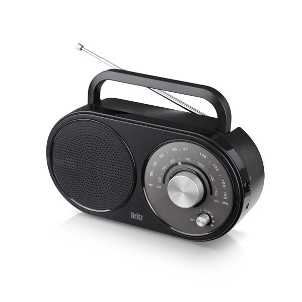 브리츠 아날로그 레트로 휴대용 FM AM 라디오 플레이어, BZ-R370, 혼합 색상