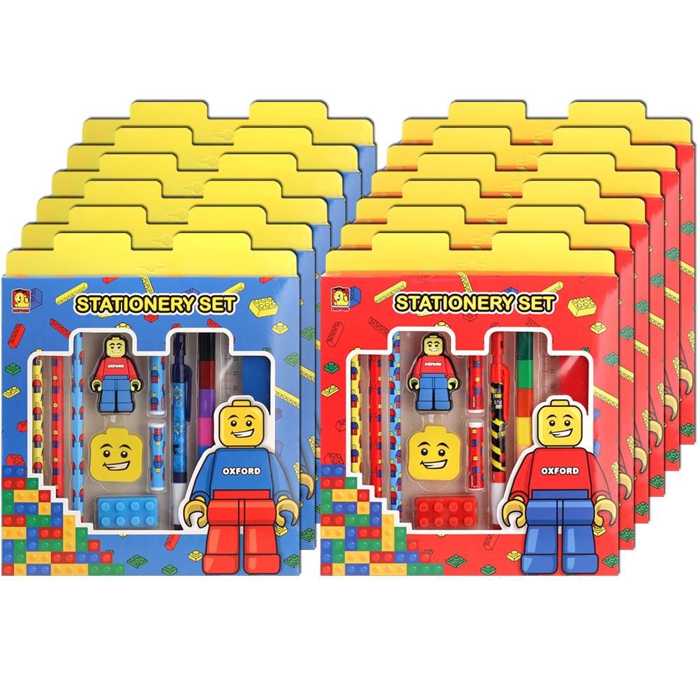 옥스포드 스탠다드 문구 빨강 6p + 파랑 6p 세트, 혼합 색상, 1세트