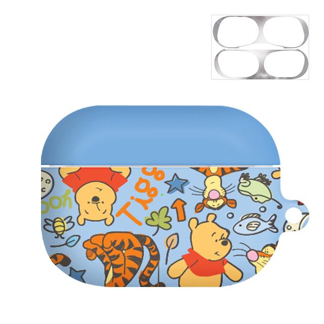 디즈니 곰돌이푸 허니 하드 에어팟프로 이어폰 케이스 + 철가루 방지 스티커, 단일 상품, 패턴 곰돌이푸