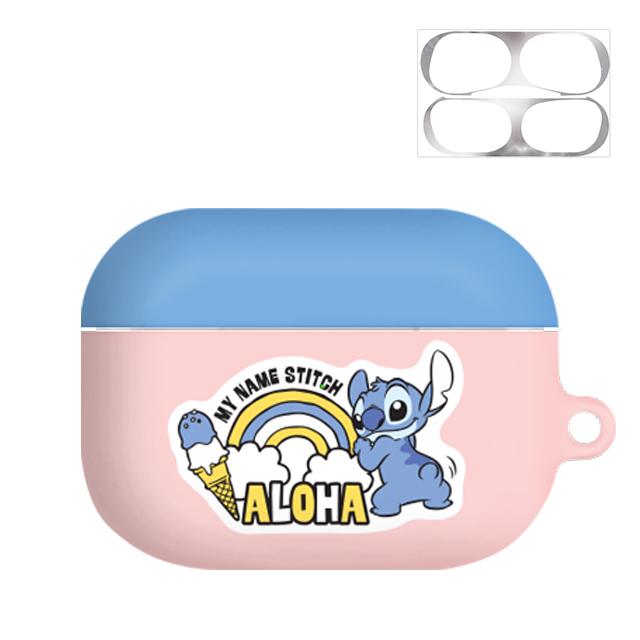 디즈니 스티치 쁘띠 에어팟 프로 케이스 + 철가루방지 스티커, 단일 상품, 알로하스티치