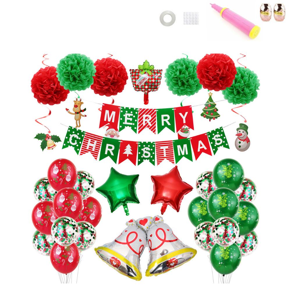 크리스마스 가랜드 축하 홈파티세트, 실버벨, 1세트