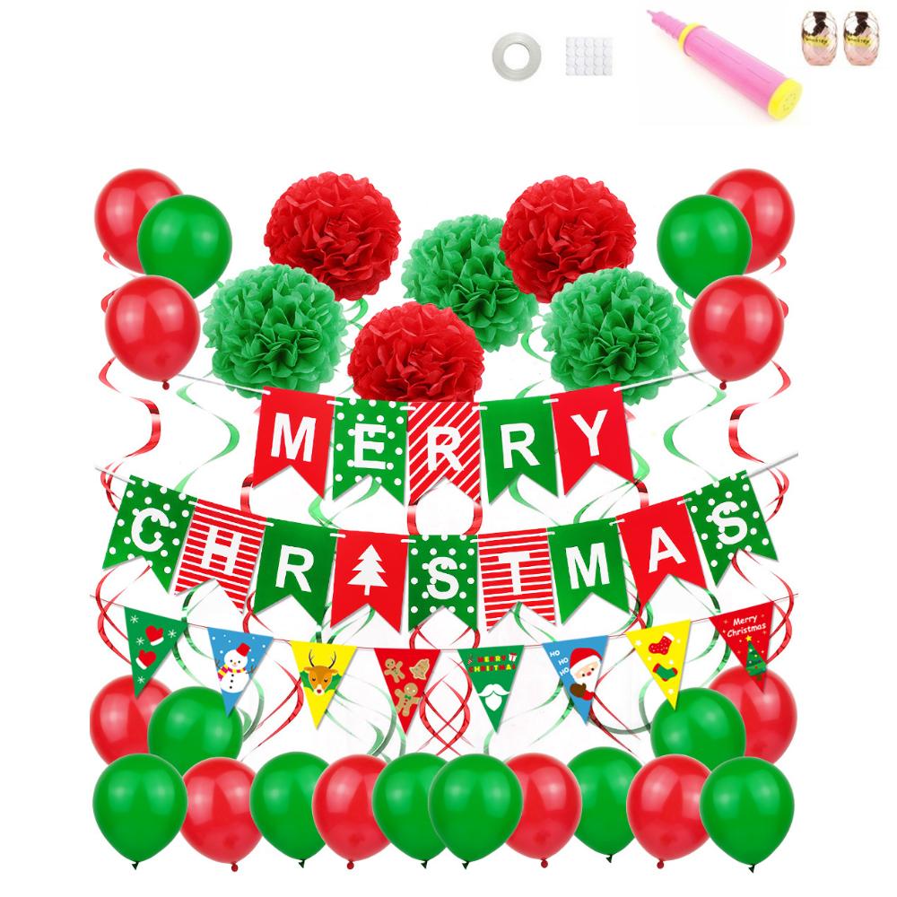 크리스마스 축하 홈파티세트, 혼합 색상, 1세트
