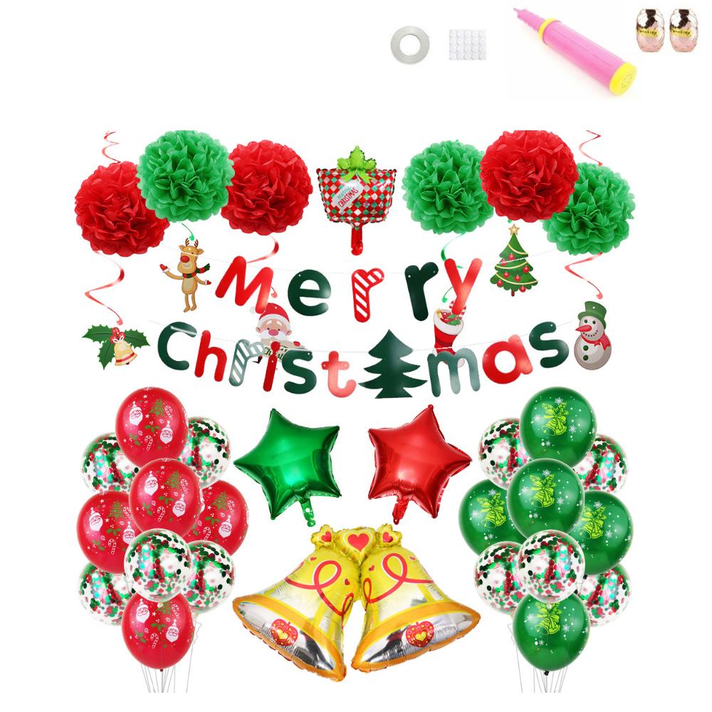 크리스마스 가랜드 축하 홈파티세트, 골드벨, 1세트