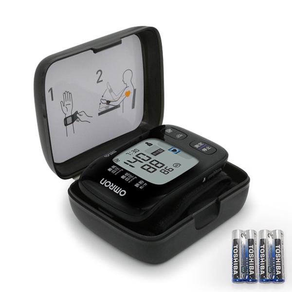오므론 블루투스 손목형 자동 전자 혈압계 HEM-6232T + AAA건전지 4p 세트, 1세트