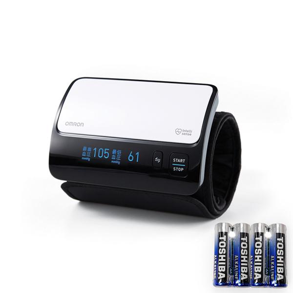 오므론 블루투스 커프 일체형 자동 전자 혈압계 HEM-7600T + AAA건전지 4p 세트, 1세트