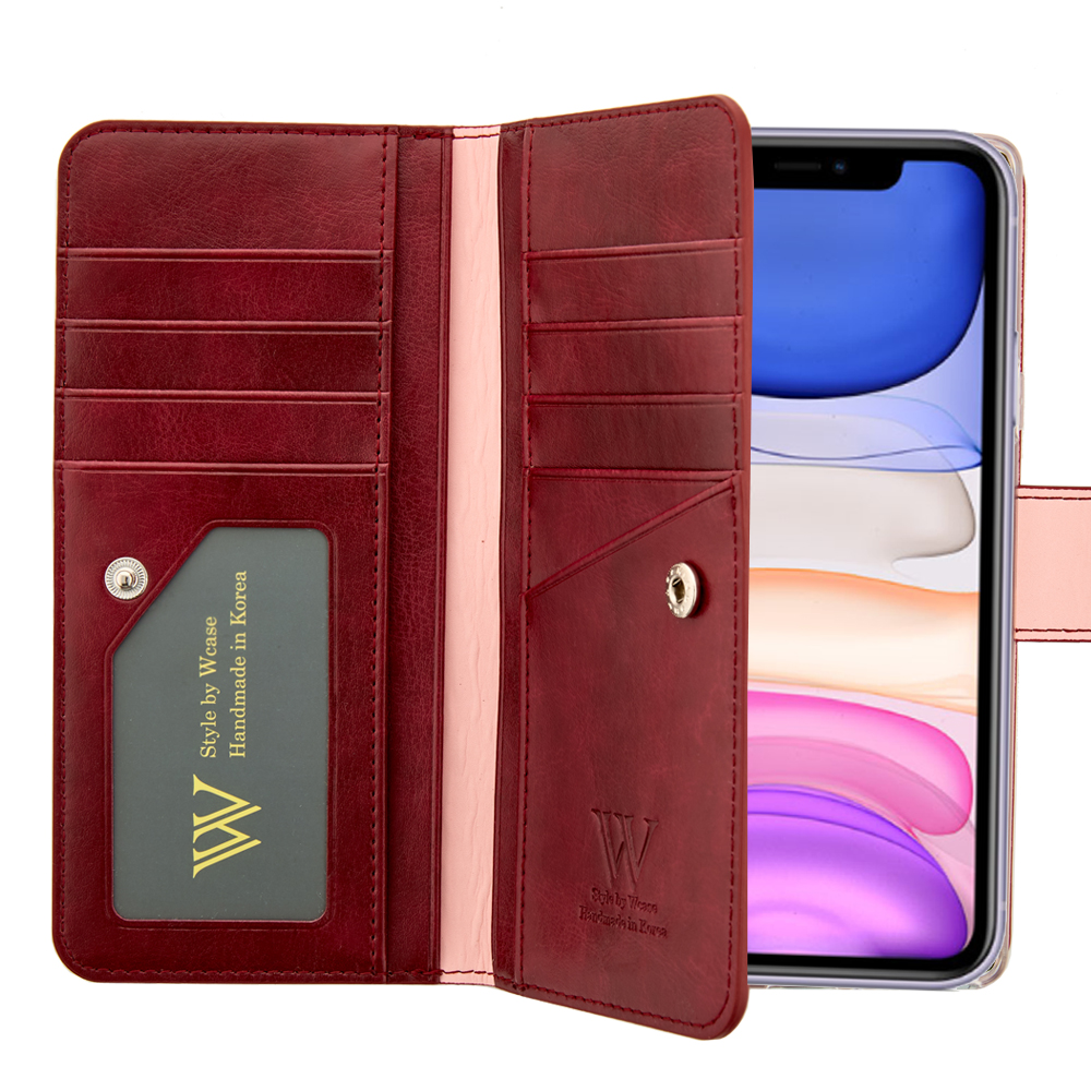 우진인터내셔널 블랙라벨 양면지갑 휴대폰 케이스 + 핸드스트랩-25-1100997139