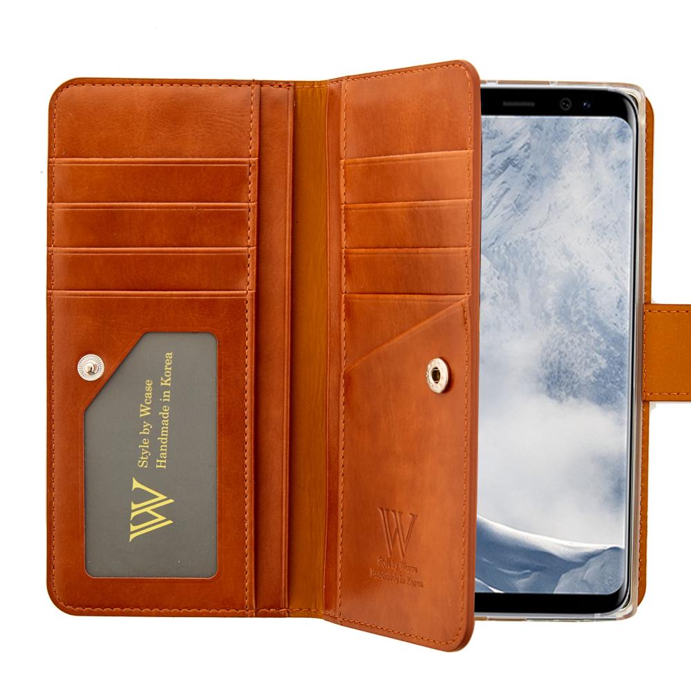 더블유케이스 블랙라벨 양면지갑 휴대폰 케이스 + 핸드스트랩-27-1100997139