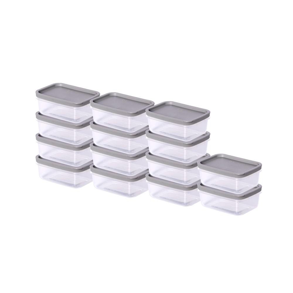 씨밀렉스 냉장고 냉동실 보관 정리 용기 그레이 소 260ml, 1개입, 14개