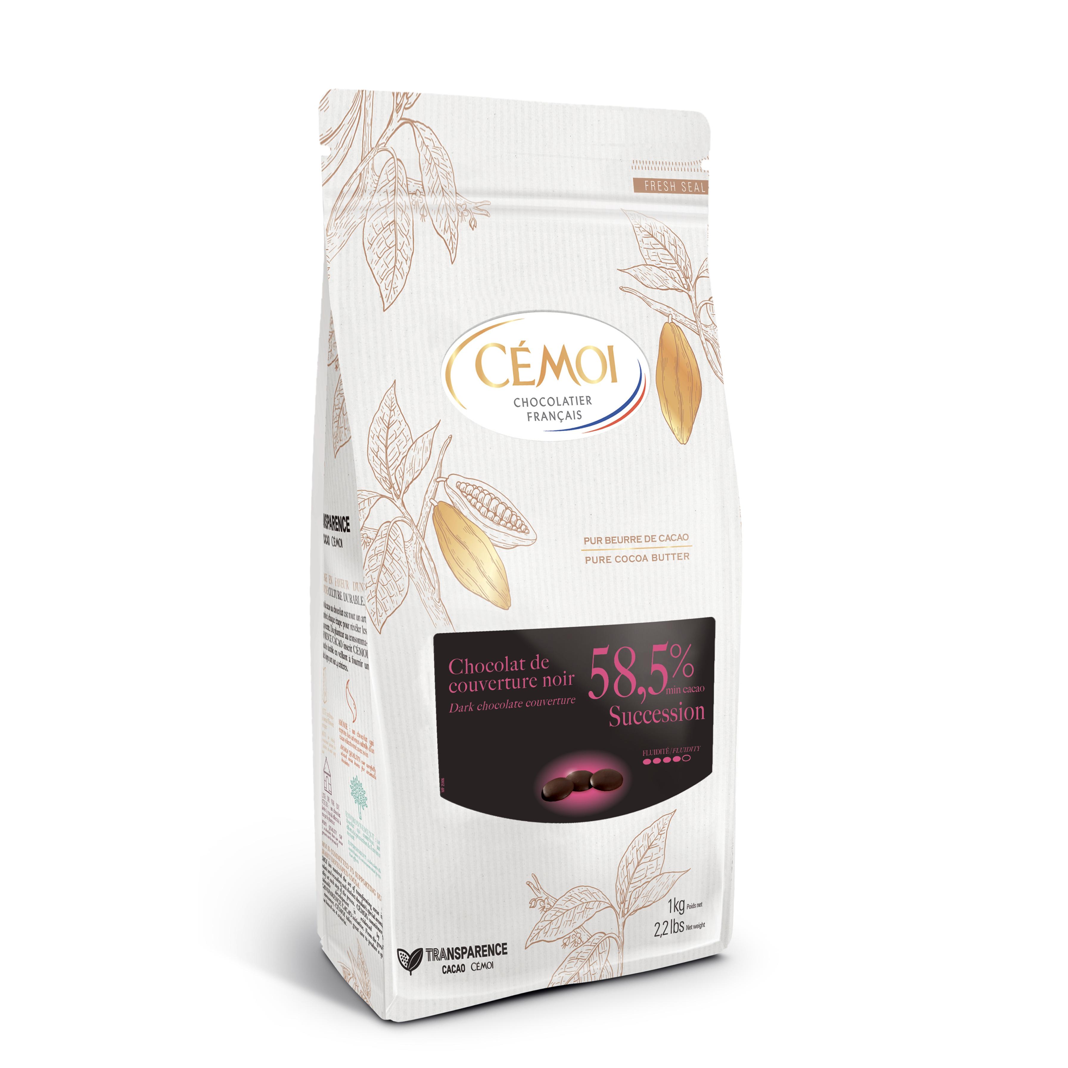 세모아 석세션 다크 커버춰 58.5% 초콜릿, 1kg, 1개