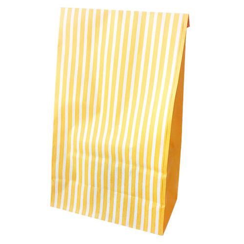 도나앤데코 샤인 스트라이프 종이봉투, 옐로우, 100개