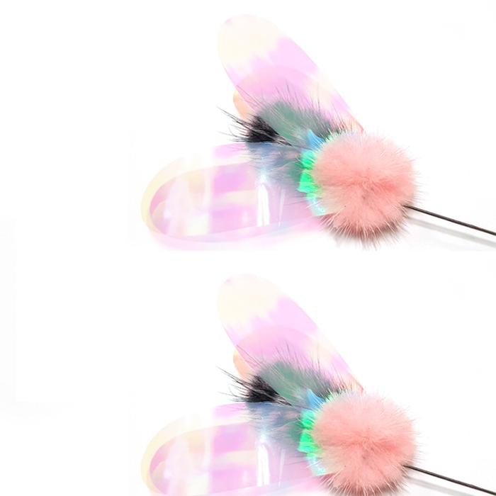 힐링타임 밍크사탕 롱롱스틱 고양이 낚싯대 NH-0247, 혼합 색상, 2개