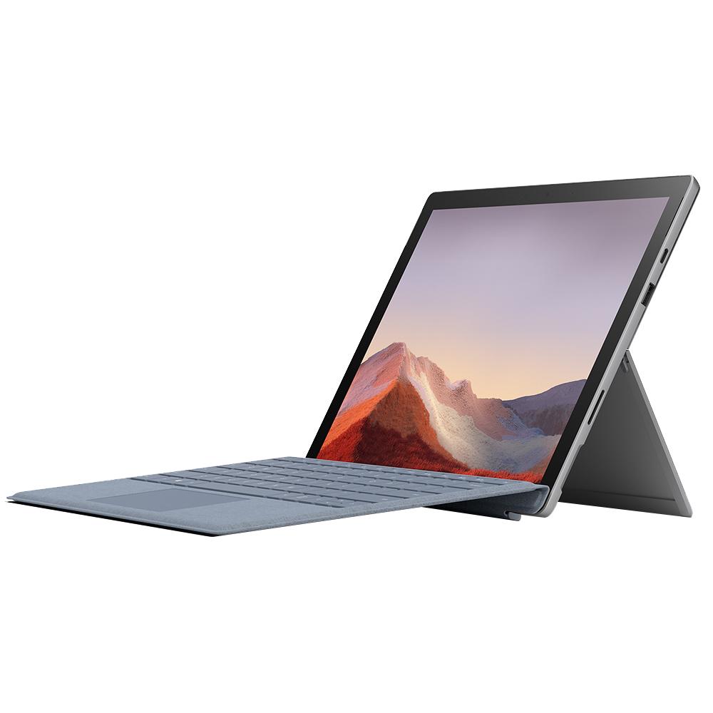 마이크로소프트 서피스 프로7 노트북 플래티넘 VDV-00010 (10세대 i5-1035G4 31.2cm WIN10) 시그니처 아이스블루 타입커버 세트, 포함, SSD 128GB, 8GB