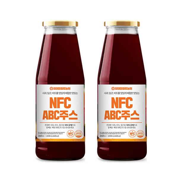 참앤들황토농원 NFC ABC주스, 1000ml, 2개