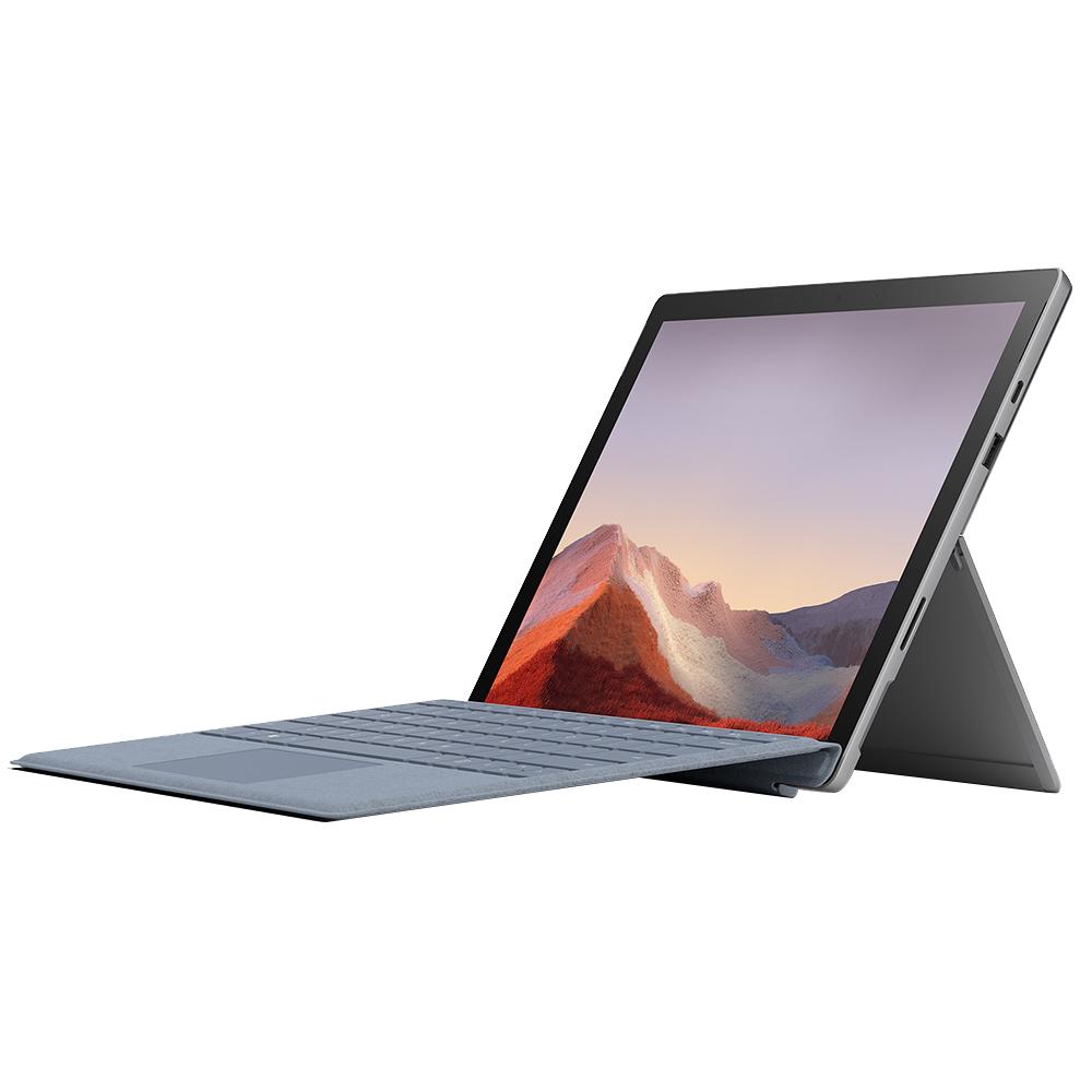마이크로소프트 서피스 프로 7 플래티넘 노트북 PUV-00010 (i5-1035G4 31.2cm) +시그니처 아이스블루 타입커버세트, 윈도우 포함, 256GB, 8GB