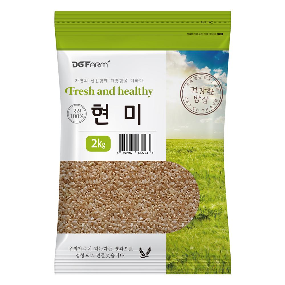 건강한밥상 국산 현미, 2kg, 1개