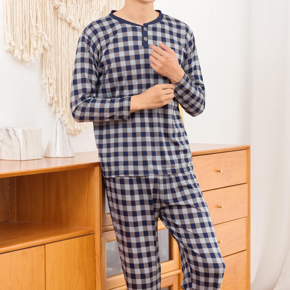 남성용 모노체크 피치기모 잠옷 상하의 세트