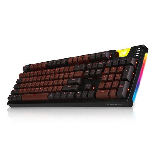 앱코 카일광축 완전방수 SA 키캡 초콜릿 게이밍 기계식키보드 클릭, ABKO HACKER K660 ARC SA, 블랙