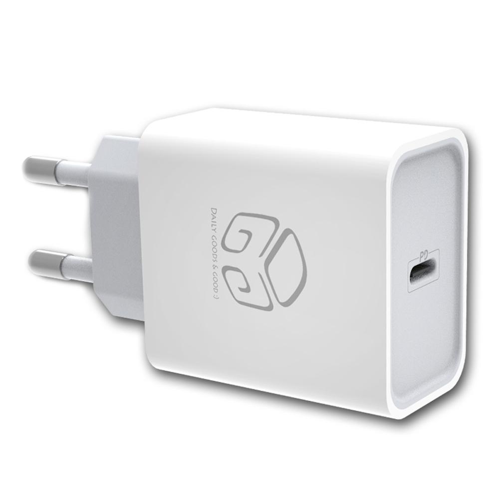 디지지 18W USB-C타입 PD 고속충전기 XY18W-PD, 화이트, 1개
