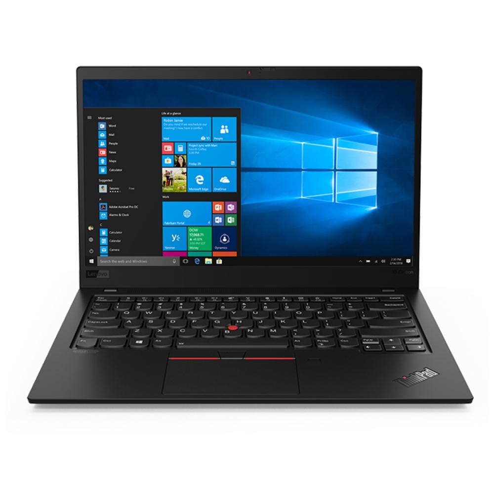 레노버 씽크패드 X1 카본 7세대 블랙 20R1S01F00 (10세대 i7-10510U 35.5cm WIN10 Intel UHD Graphics Full HD), 포함, SSD 256GB, 16GB
