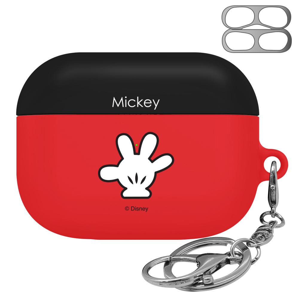 디즈니 심볼 에어팟 프로 케이스 + 고리 + 철가루 방지 스티커, 단일 상품, 핸즈 미키