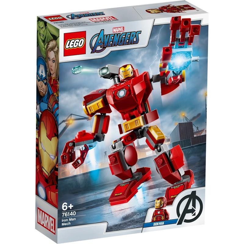 레고 슈퍼히어로 아이언맨 맥 로봇 76140, 혼합 색상