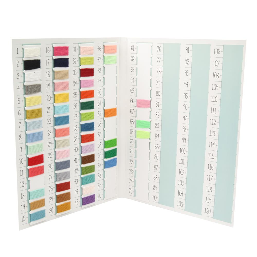 브랜드얀 밀키코튼 뜨개실 샘플 컬러북 레드라벨, 혼합 색상