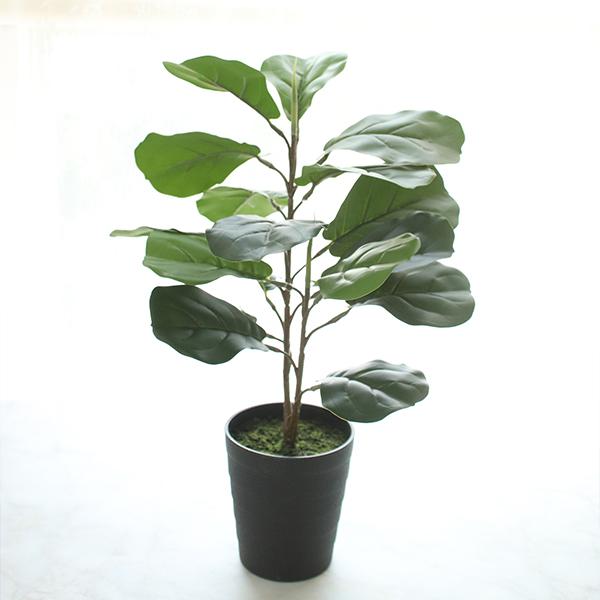 모리앤 진짜같은 떡갈고무 나무화분 조화 50cm, 혼합 색상, 1개
