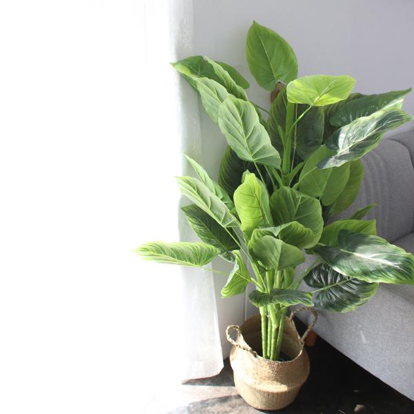 모리앤 싱그러운 알로카시아 조화나무 130cm, 혼합 색상, 1개