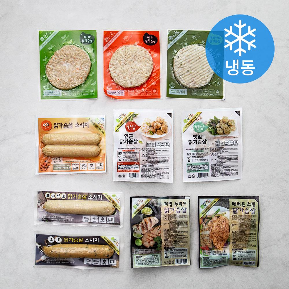 햇살닭 닭가슴살 맛보기 10종 세트 (냉동), 1세트