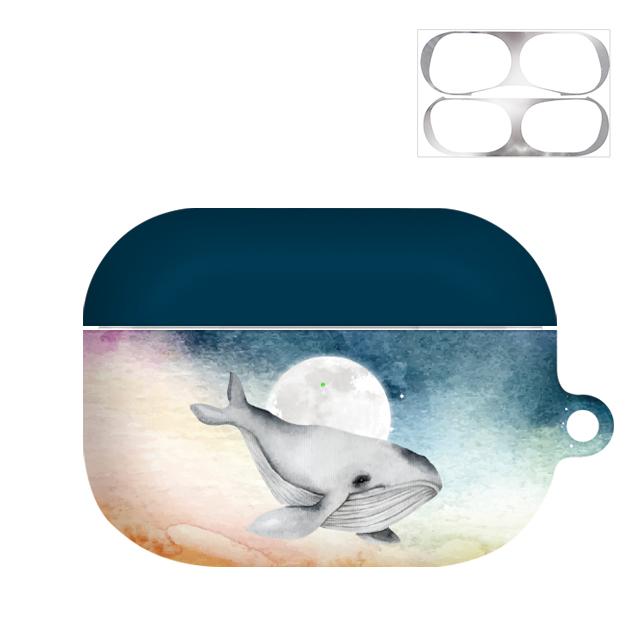 바니몽 워터웨일 하드 에어팟프로케이스 + 철가루방지 스티커, 단일 상품, 선셋