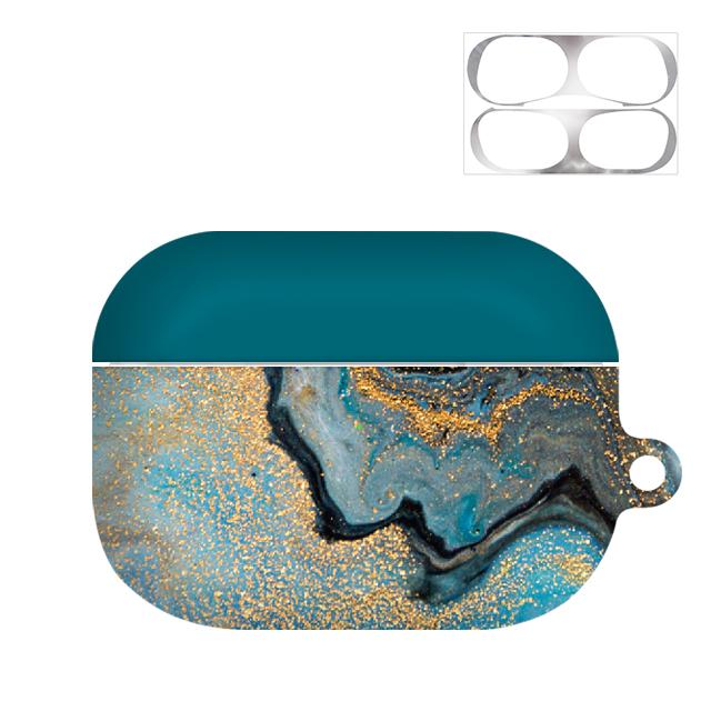바니몽 블루아크릴 하드 에어팟프로케이스 + 철가루방지 스티커, 단일 상품, 펄블루