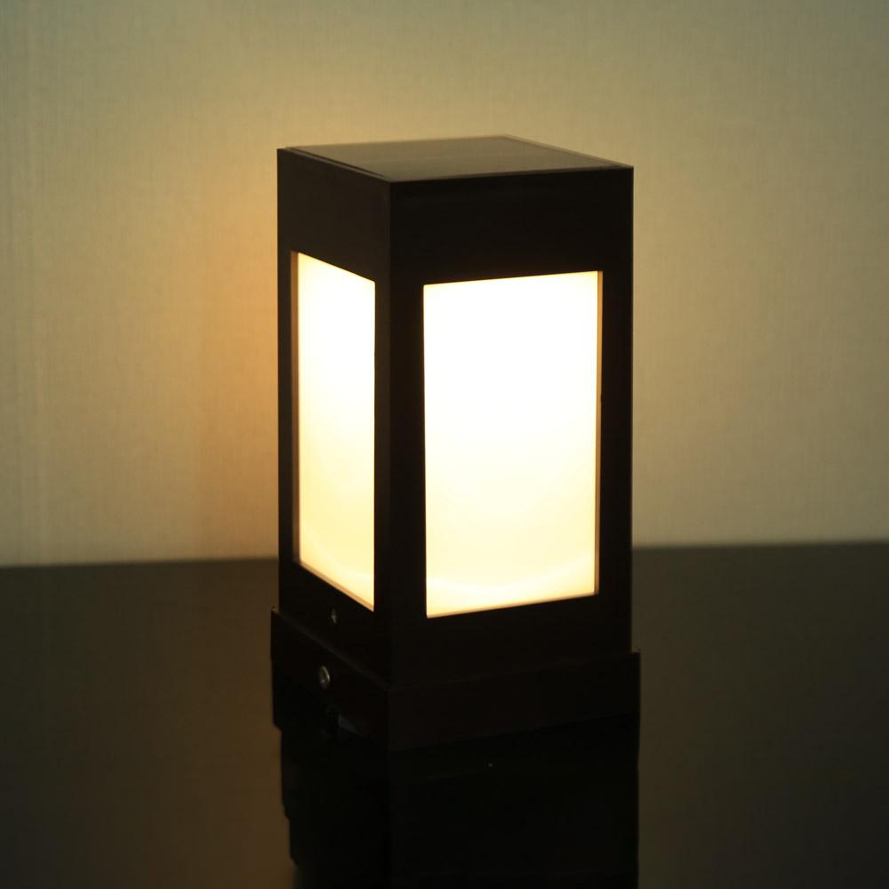 파파 LED태양광 야외 문주등 2W, 전구색