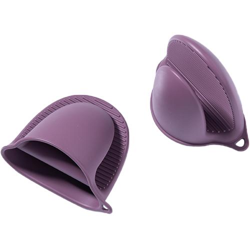 키친팩토리 파스텔 실리콘 내열장갑, 버건디핑크, 2개