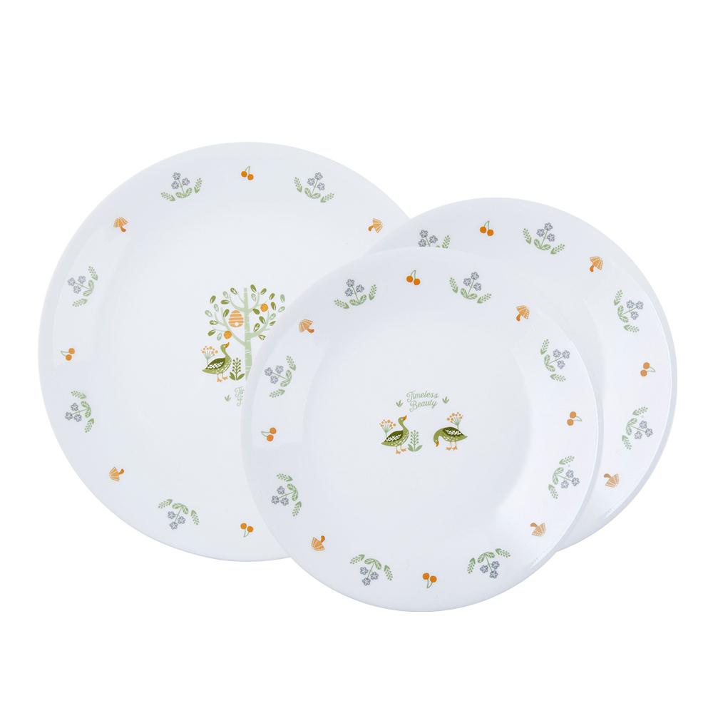 코렐 코지팜 원형 접시세트, 1세트, 소 2p + 중