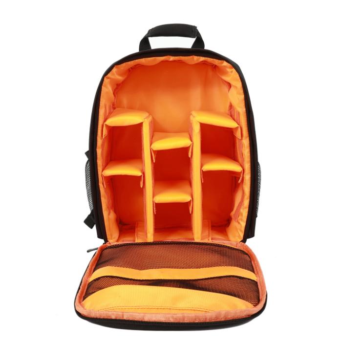 콩 블랙 백팩 카메라 가방, 오렌지