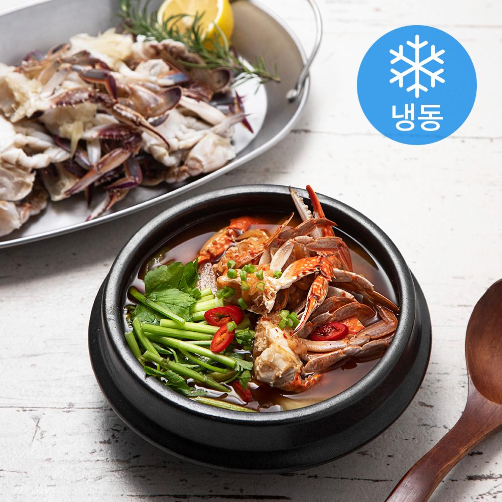 사랑해어 간편한 손질 꽃게 (냉동), 450g, 2개