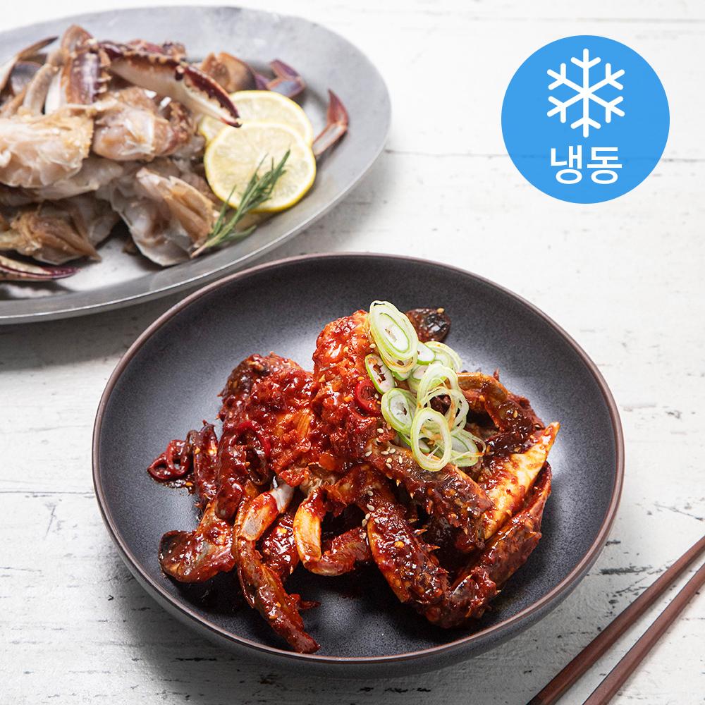 사랑해어 특대 손질 꽃게 (냉동), 450g, 2개
